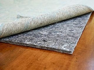 Dual Surface   2 x10    1 4  Thick   Felt   Rubber   Non Slip Backing Rug Pad   Adds Comfort and Protection   Safe for All Floors and Finishes
