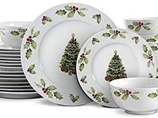 Pfaltzgraff Christmas Day Dinnerware Set  White
