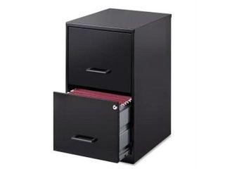 lorell 2 Drawers Vertical Steel lockable Filing Cabinet  Black