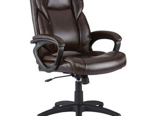 Staples Kelburne luxura Office Chair Brown 2554454  MISSING PIECES  lOOK AT PICTURES