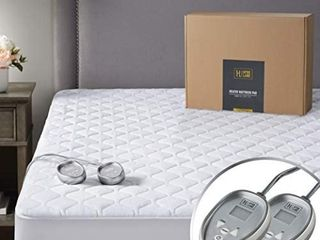 Premium Mattress Heating Pad Queen Size 60x80 Inch   Quilted Cotton Electrical M