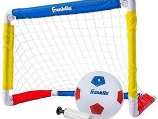 Franklin Sports Kids Mini Soccer Goal Set   Backyard Indoor Mini Net and Ball Set with Pump   Portable Folding Youth Soccer Goal Set   24  x 16