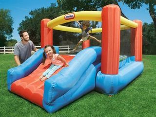 little Tikes Jr  Jump N Slide Inflatable Bounce House