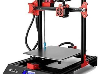 M09 3D Printer  Winice larger Size 3D Printer High Accuracy Double Z Axis with Glass Bed Plate  Resume Printing Function  3 5  Touch Screen  Filament Detection Printers 250x250x270mm