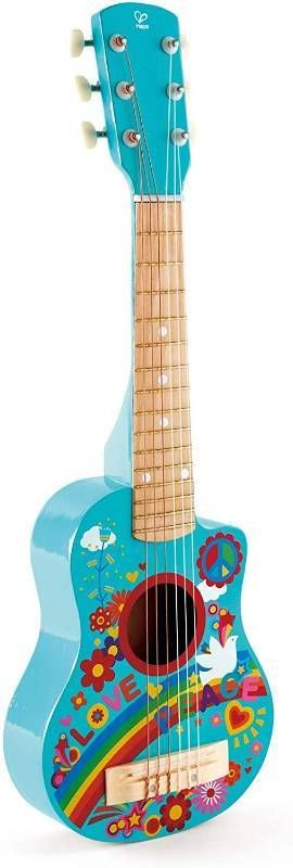 Hape Kid s Flower Power First Musical Guitar  Turquoise