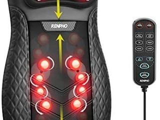 RENPHO Shiatsu Back Massager for Chair  Massage Cushion with Heat  Chair Massager for Neck  Back  Shoulders  Height Adjustable Massage Seat  Gifts for Parents  Use at Home   Office