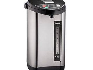 Chefman 5 3 liter Instant Electric Auto Dispense Hot Water Pot  Stainless Steel