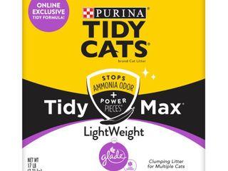 Purina Tidy Cats Clumping  lightweight Cat litter  Tidy Max Glade Clean Blossoms Multi Cat litter   17 lb  Box