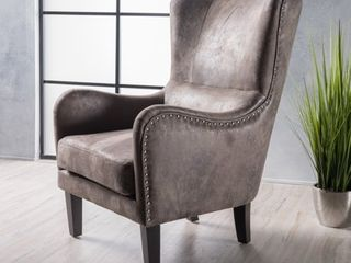 lorenzo Microfiber Wingback Club Chair