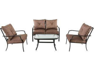 Hanover Outdoor Palm Bay 4 Piece Patio Set in Copper Brown