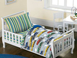 Dream Factory Trains 4 piece Toddler Comforter Set