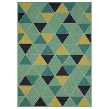 allen   roth Outdoor 5 x 8 Citron Geode Tropical Area Rug