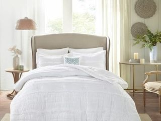 Copper Grove Burwell White Comforter Set   Queen