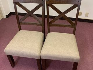 Cross Back   Solid Wood Dining Chairs