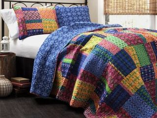 The Curated Nomad Doherty Multicolored 3 piece Quilt Set King