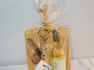 White wine and cheese package