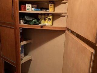 Contents of Shelves  lightbulbs  Etc