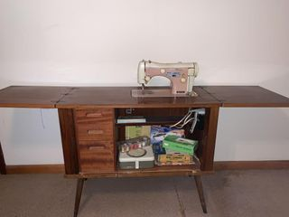 Necchi Sewing Machine with Cabinet