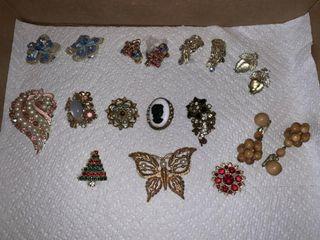 Earrings  Brooches  Etc
