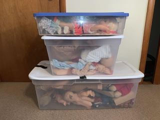 3 Tubs of Dolls