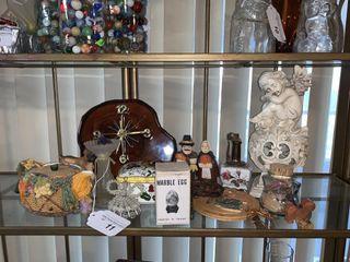 Clock  Figurines  Curios