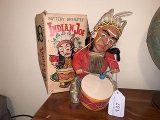 Vintage Indian Joe with war drum