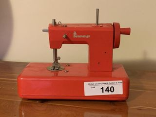 Vintage Penneys toy sewing machine