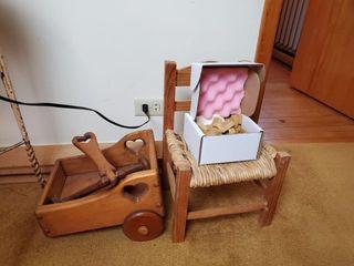Child s Chair  Wood Blocks and Wagon