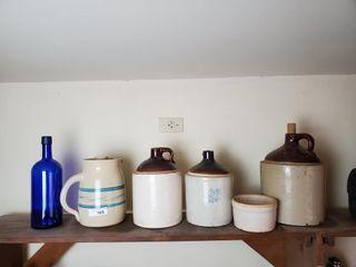 Asst  Vintage Stoneware Crocks