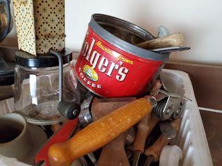 Vintage Kitchen Utensils  Folger s Can
