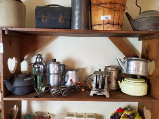 Vintage Toaster  Percolators  Tea Pots  etc