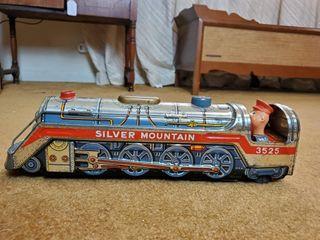 1960 s Silver Mountain Tin Toy Train