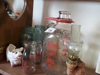 lucerne Glass Milk Jug  Atlas Jars  etc