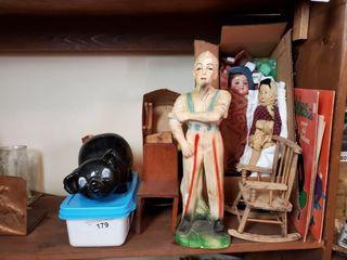 Vintage Dolls  Banks  Paper Dolls  etc