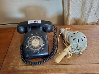 Vintage Hair Blow Dryer   Rotary Telephone