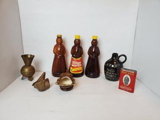 Mrs  Butterworth Bottles  Price Albert Tin  etc