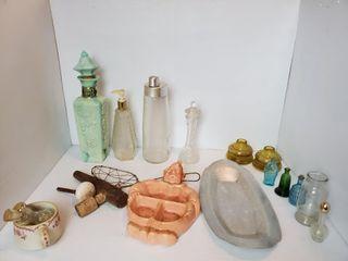 Jim Beam Decanter  Vintage Glassware  etc