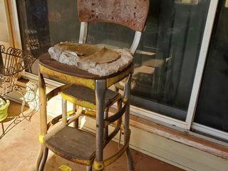 Vintage 1950 s Kitchen Chair w  Step ladder
