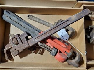 5   Assorted Pipe Wrenches