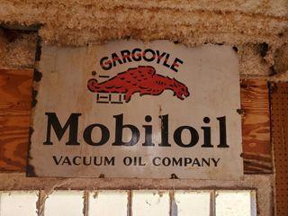 2  x 3  Mobiloil Gargoyle Sign