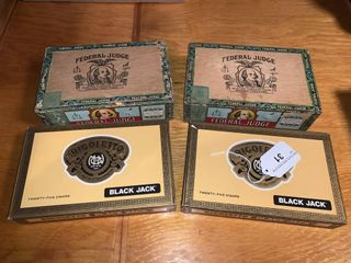 4 Cigar Boxes and Contents
