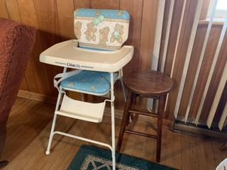 Graco High Chair and Wooden Stool