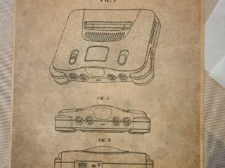 Nintendo 64 Gaming Console Patent 1997