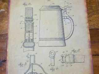 Beer Stein Patent 1914