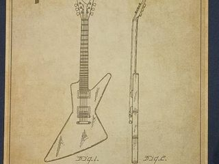 Stringed Musical Instrument  Gibson  Patent 1958