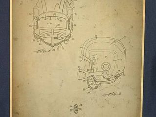 Chin Strap Construction for Football Helmets Patent 1955