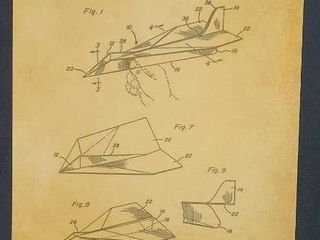 Folded Paper Airplane Patent 1983