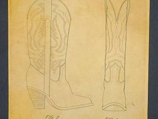 Cowboy Boot Patent 1983