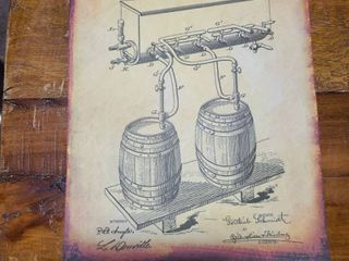 Cold Air Pressure Apparatus for Beer Patent 1900