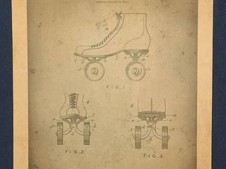Combination Roller Skate Shoe Patent 1889